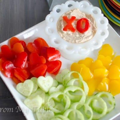 healthy valentine snack