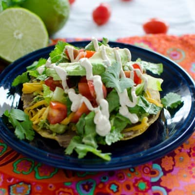 Tostadas {Vegetarian or Not}