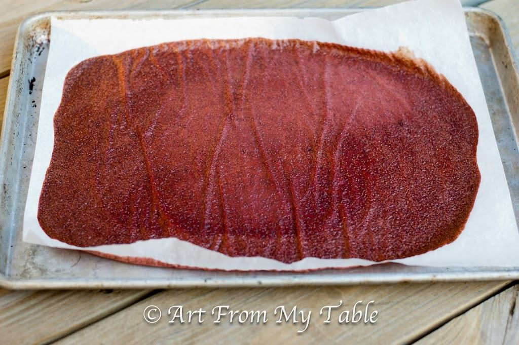 Fruit Leather In Oven Parchment Paper