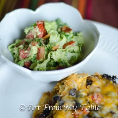 Avocado Lettuce Salad