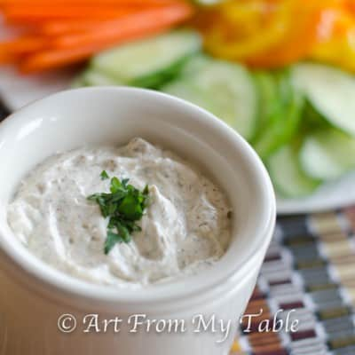 SRC:  Homemade Vegetable Dip