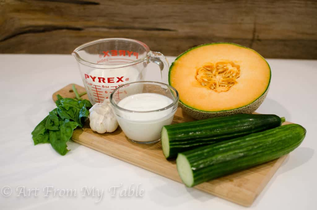 Cucumber Soup {with Melon  Basil}