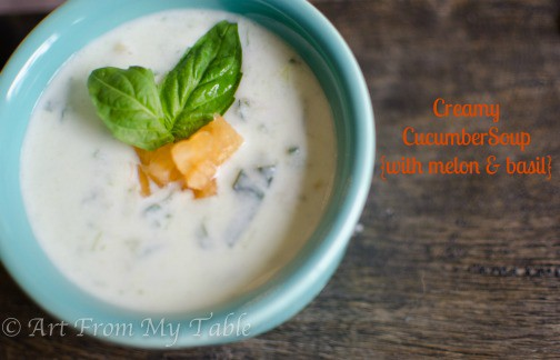 Cucumber Soup {with Melon & Basil}