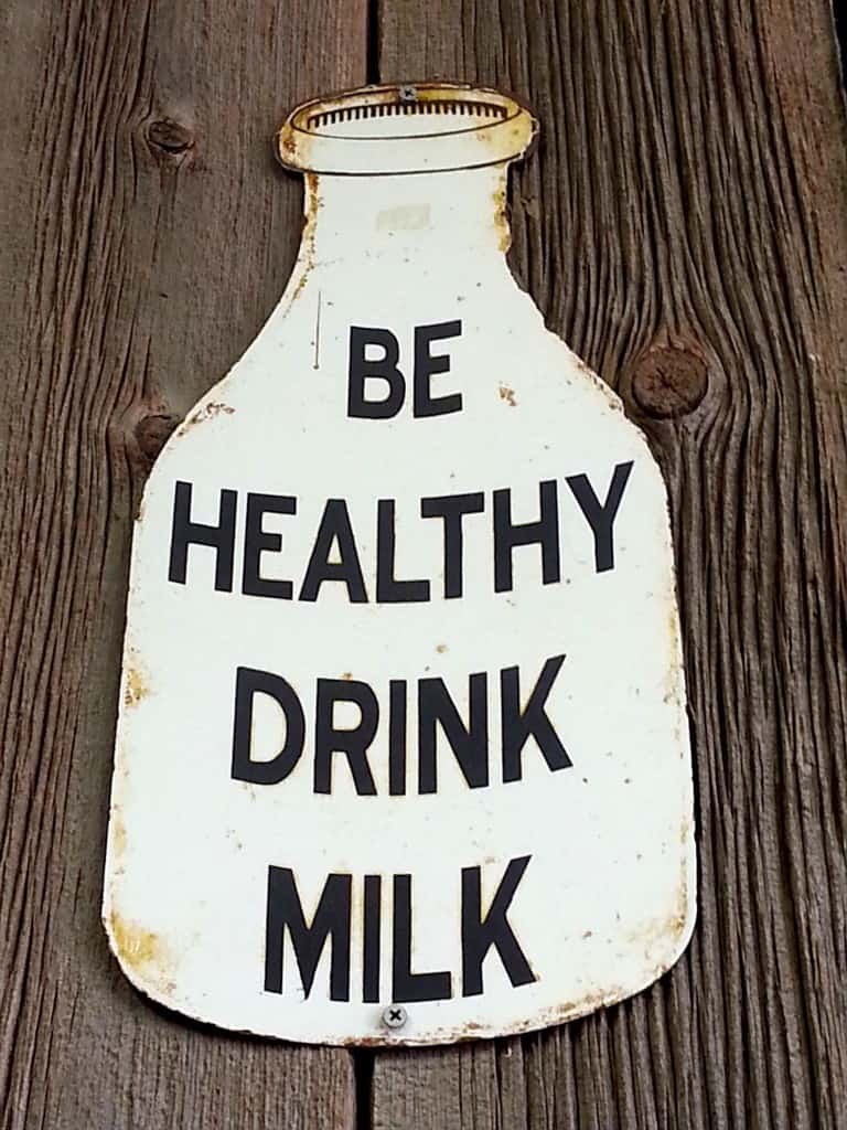 drink milk sign