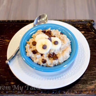 Peanut Butter Chocolate Chip Oatmeal