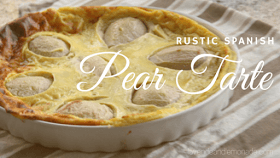 rustic spanish pear tarte