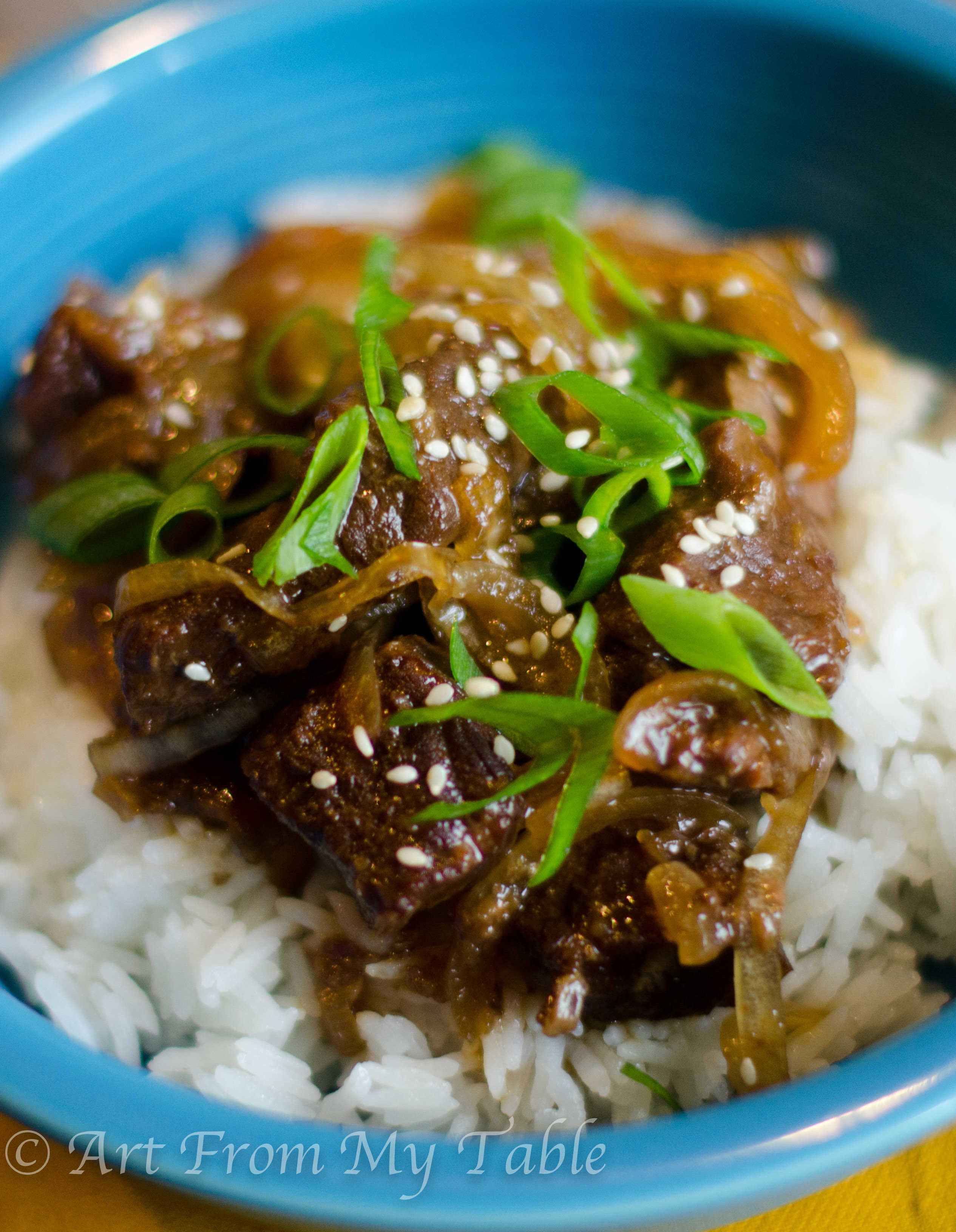 Slow Cooker Mongolian Beef - Art From My Table