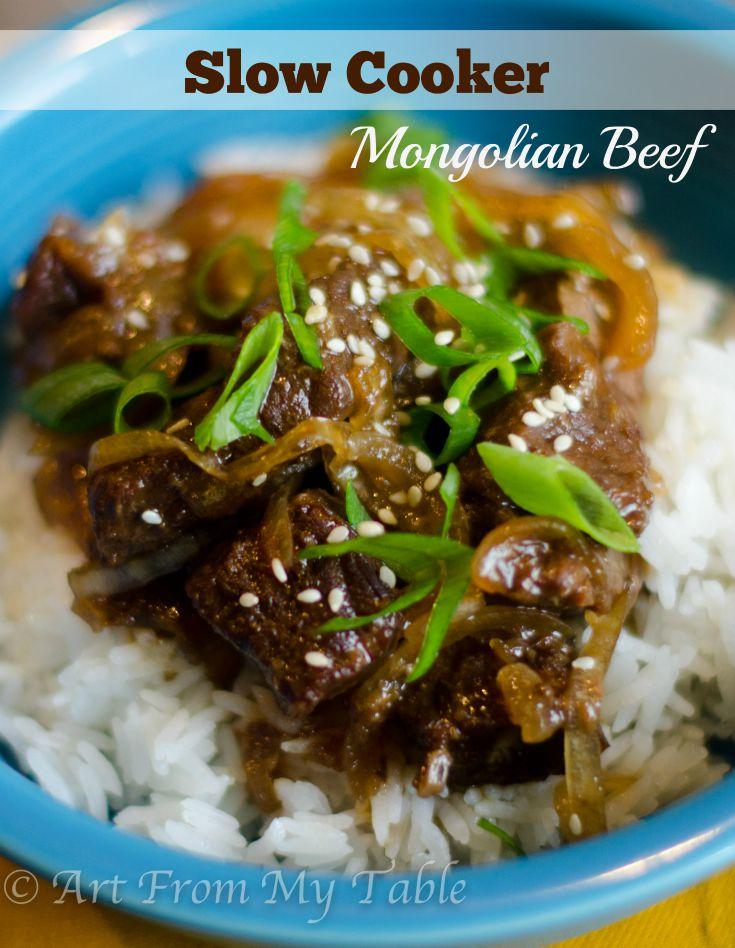 slow cooker Mongolian beef recipe. Succulent, tender pieces of beef ...
