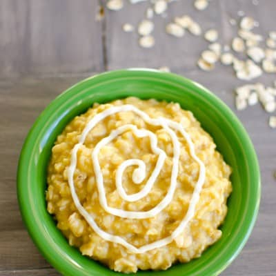 Pumpkin Roll Oatmeal