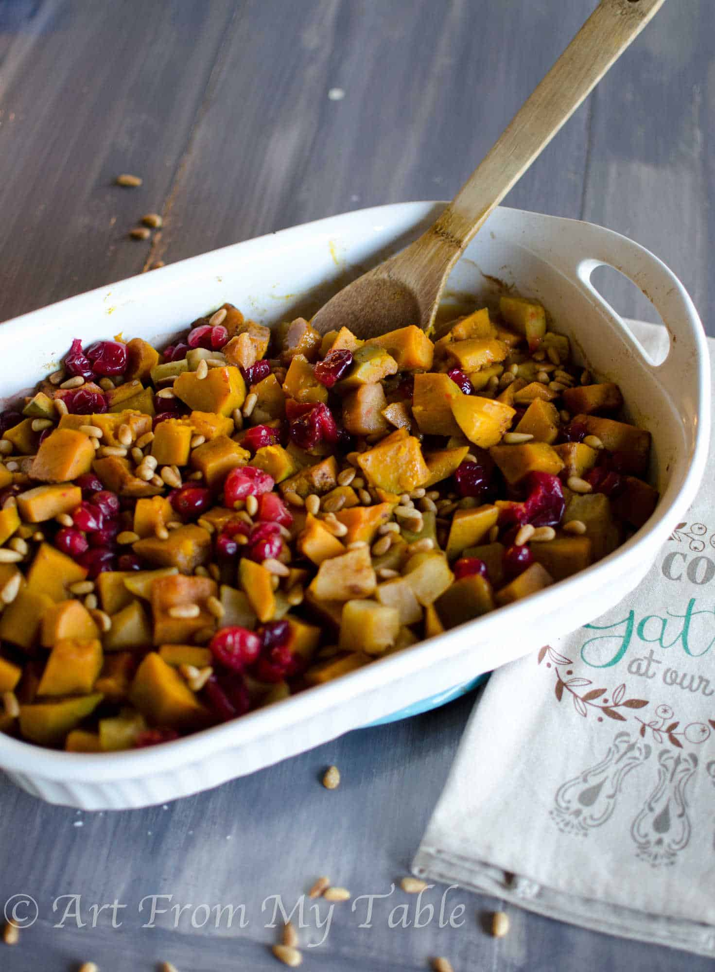 Squash Apple Cranberry Bake - Art From My Table