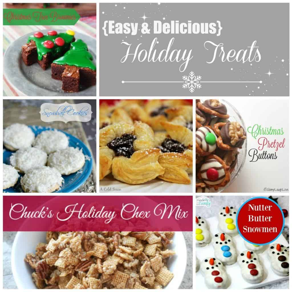 holiday treats collage