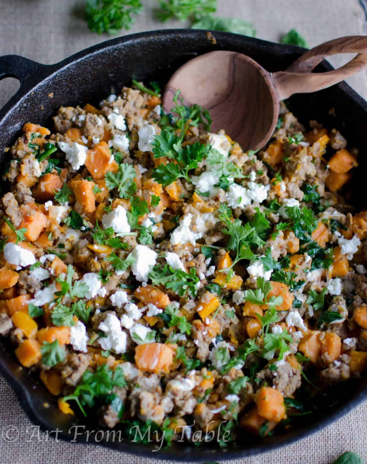 the best turkey skillet dinner ~ this one pot wonder is ready in 30 min.