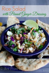 rice salad peanut ginger dressing