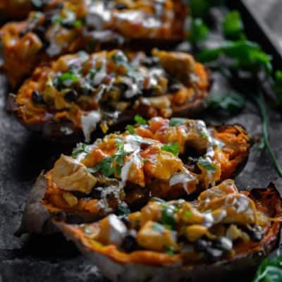 enchilada stuffed sweet potatoes