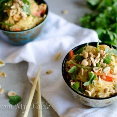 Spaghetti Squash Recipe~Thai Style