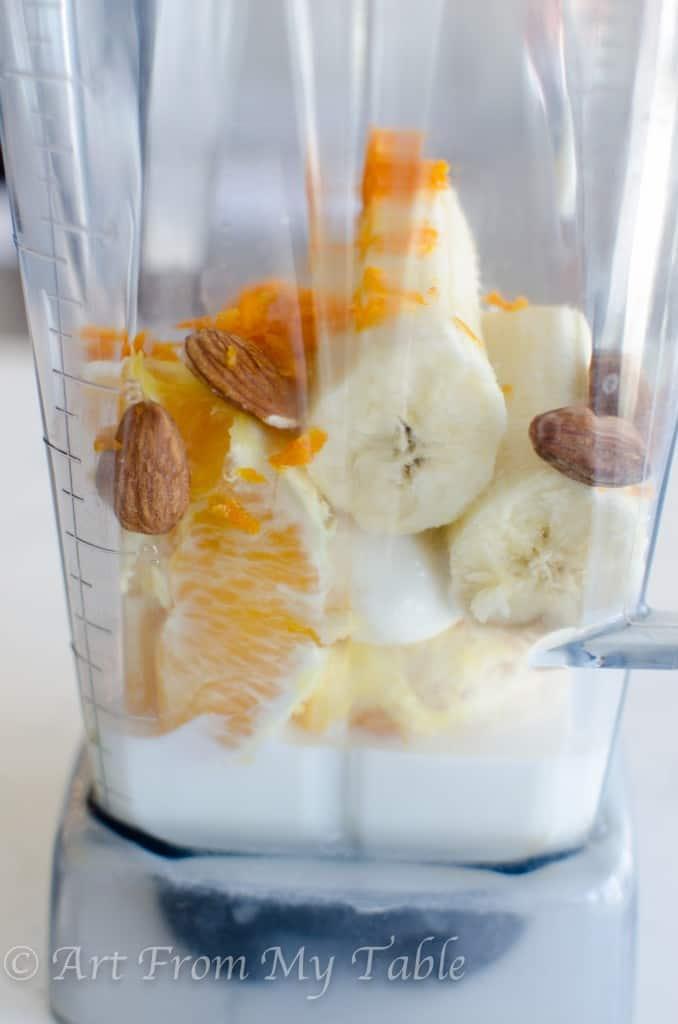 nutty orange smoothie
