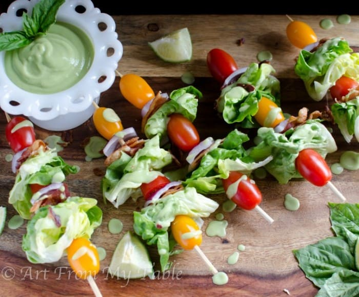 blt salad on a stick