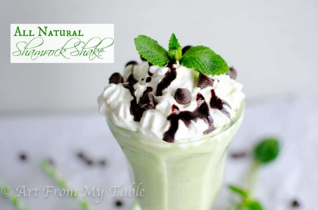 all natural shamrock shake