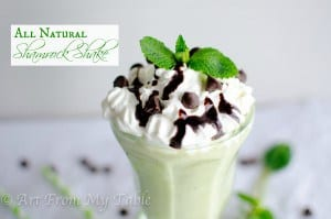 all natural shamrock shake