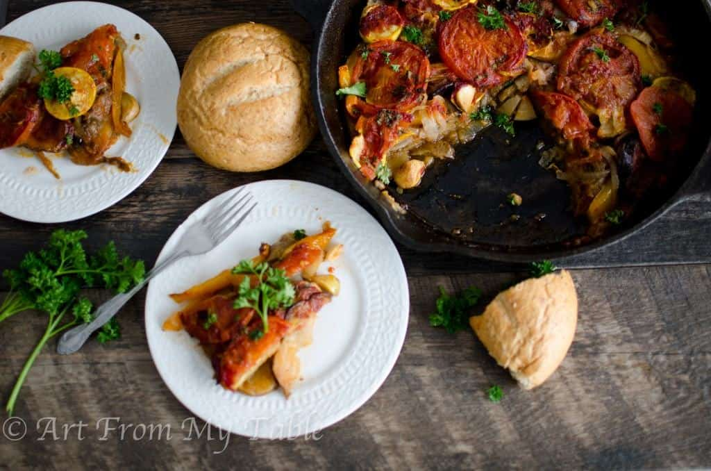 greek style baked vegetable medley