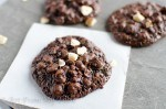 chocolate hazelnut drop cookies