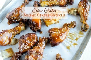 slow cooker sesame chicken drumsticks