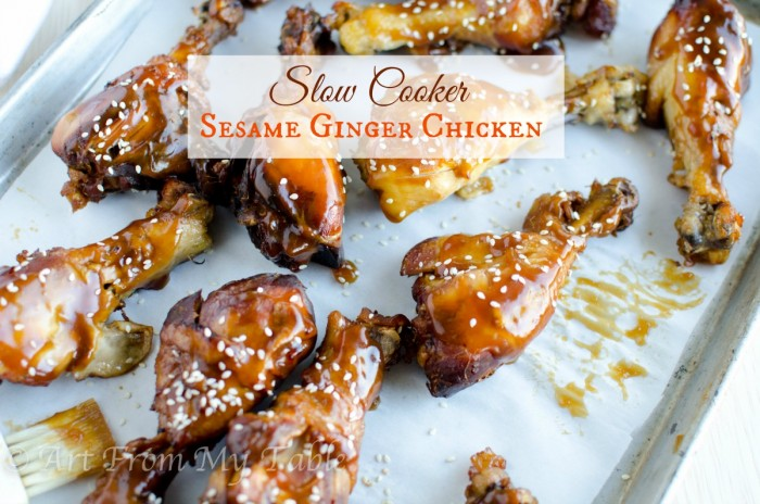 slow cooker sesame chicken drumsticks