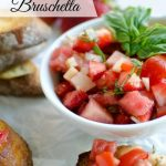 melon strawberry bruschetta