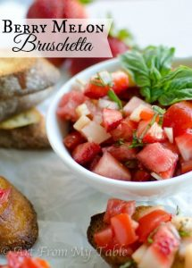 melon strawberry bruschetta