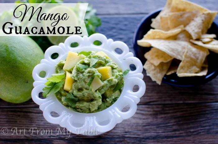 chunky mango guacamole