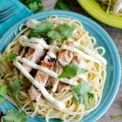 Lemon Cilantro Grilled Chicken Pasta