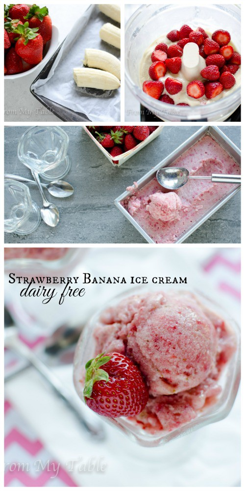 no churn dairy free strawberry banana ice cream