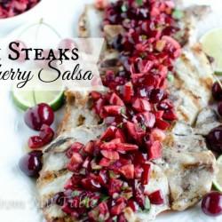 pork chops with cherry salsa