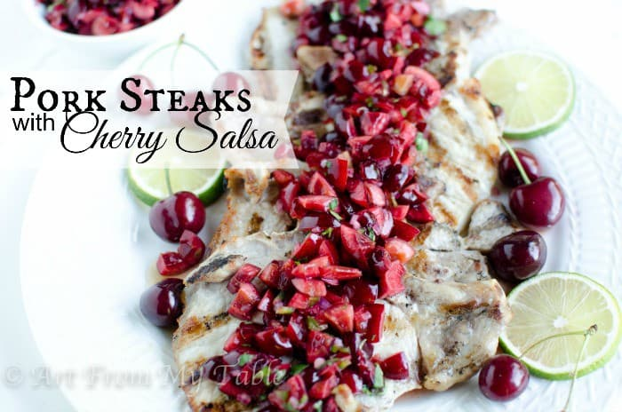 pork chops with cherry salsa