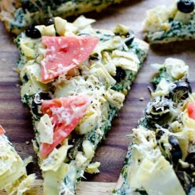 Greek Isle Appetizer {Mediterranean Pizza}