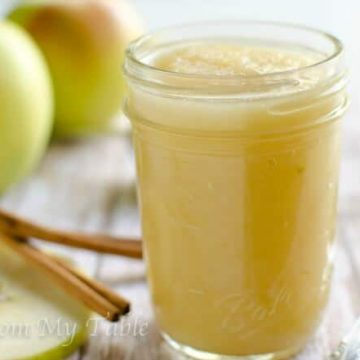 sugarless 3 step applesauce