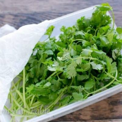Keeping Cilantro Fresh {for weeks!}
