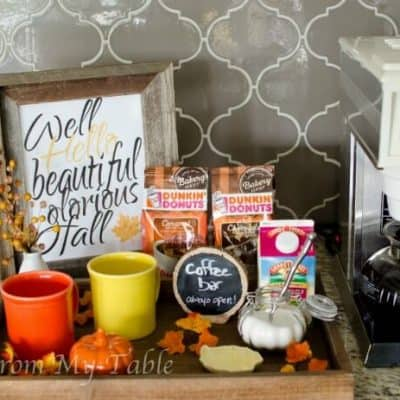 autumn inspired diy coffee station