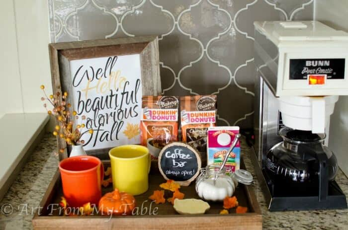 Autumn Inspired Diy Coffee Station With Recipe Art