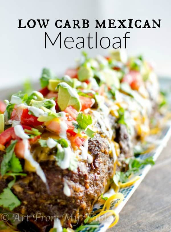 Need a satisfying dinner that sticks with you without all the carbs? This Low Carb Mexican Meatloaf recipe comes together so easily and will keep you content until your next meal! #easydinner #weeknightmeals #mexican #backtoschool via @artfrommytable