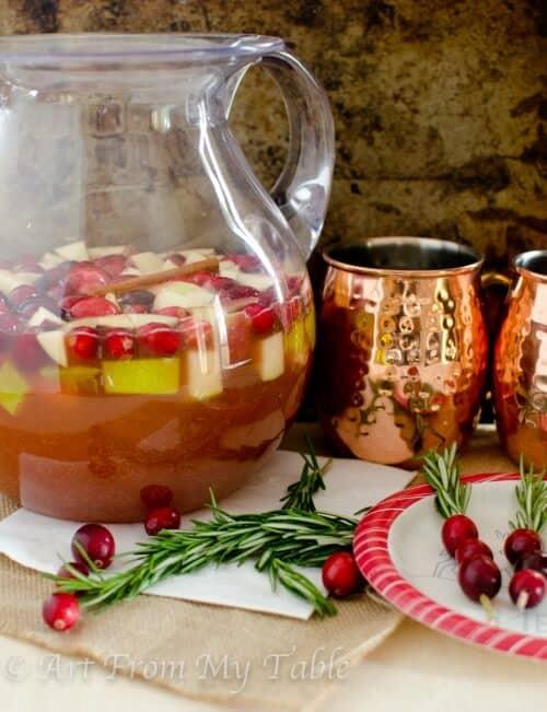 sparkling cider sangria