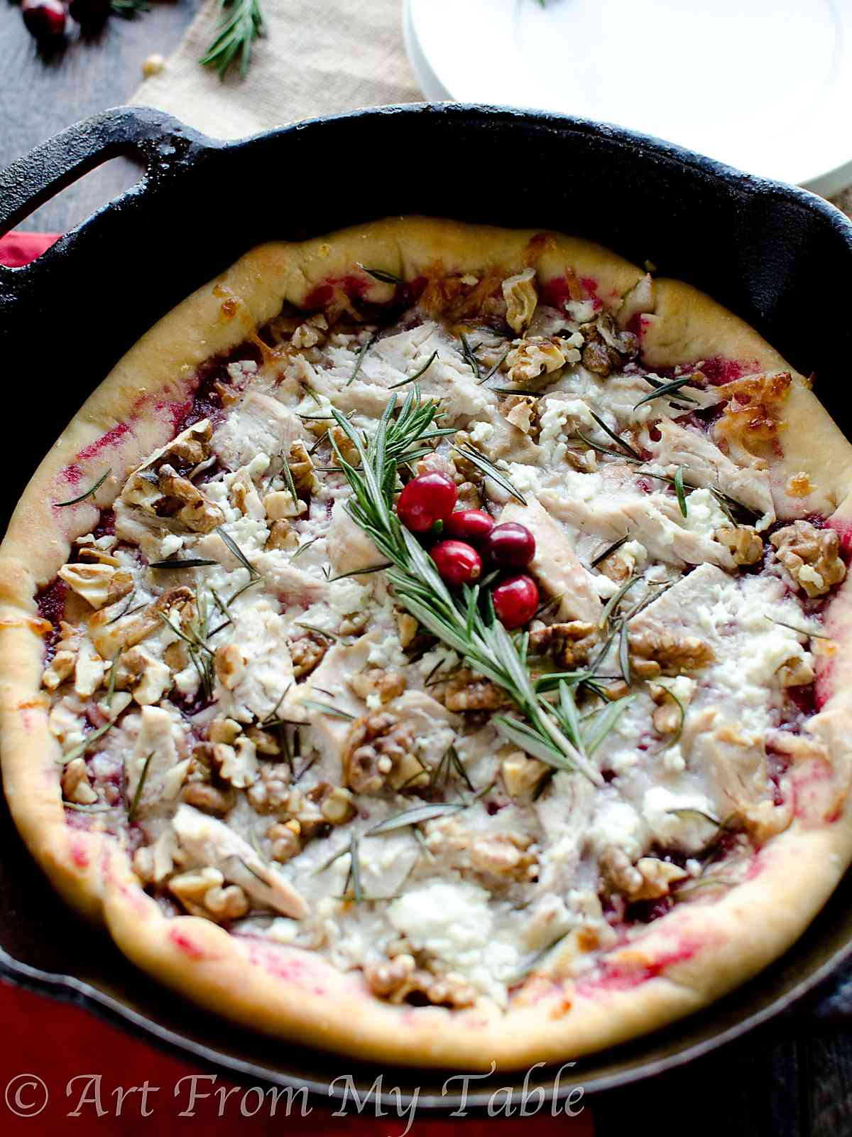 Turkey Cranberry Pizza