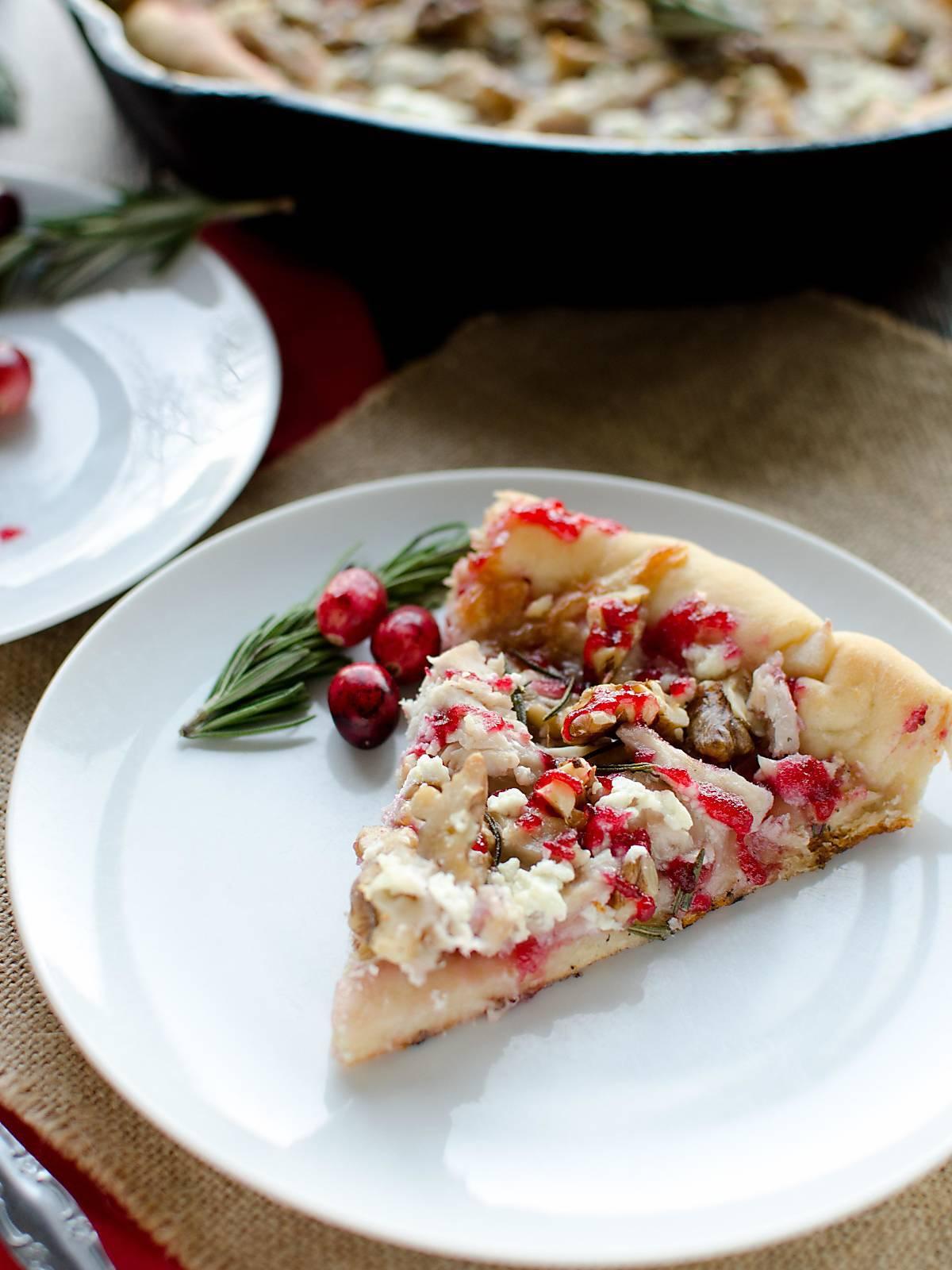 Turkey Cranberry Pizza