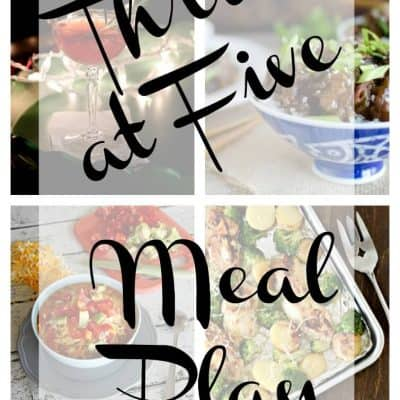 Thrive at Five Weekly Meal Plan November Week 2