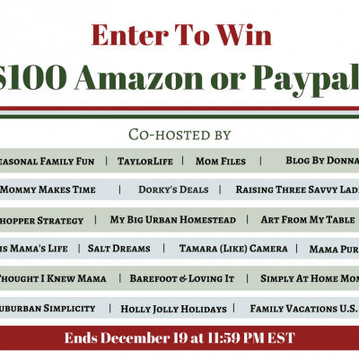 $100 Cash for Christmas Giveaway {ends 12/19/16}