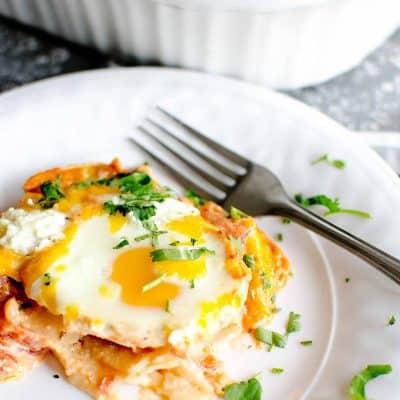 Cheesy Baked Eggs in Tomato Cream Sauce