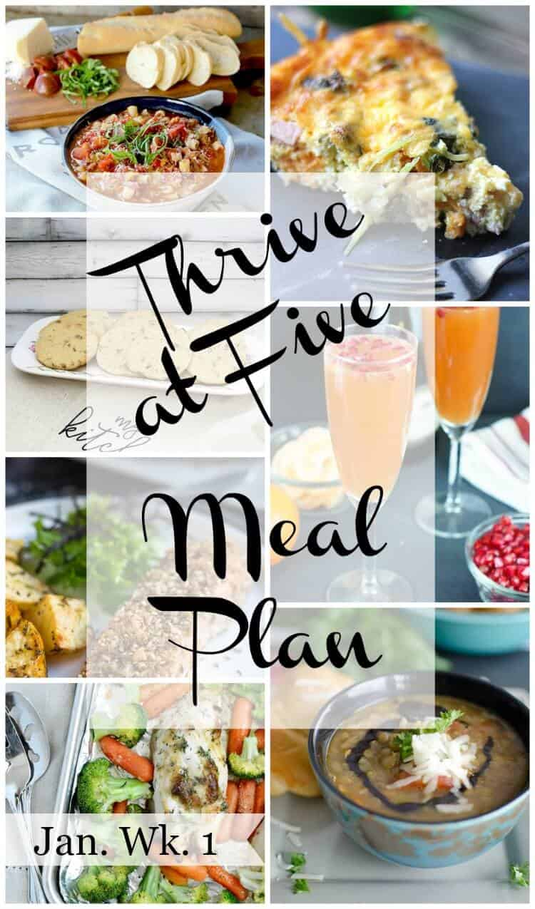 thrive at five weekly meal plan january week 1