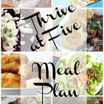 Thrive at Five Weekly Meal Plan December week 2