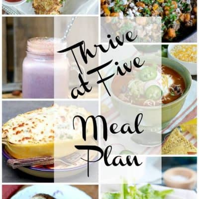 Thrive At Five Weekly Meal Plan January Week 4