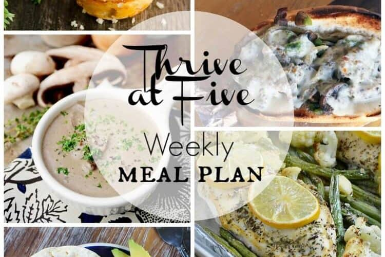 Thrive at Five Weekly Meal Plan February Week 2